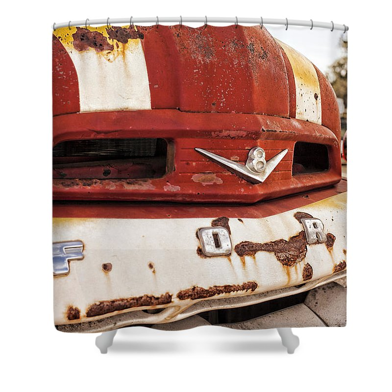 Truck Fine Art Photograph Shower Curtain featuring the photograph Mr. Rusty by Toni Hopper