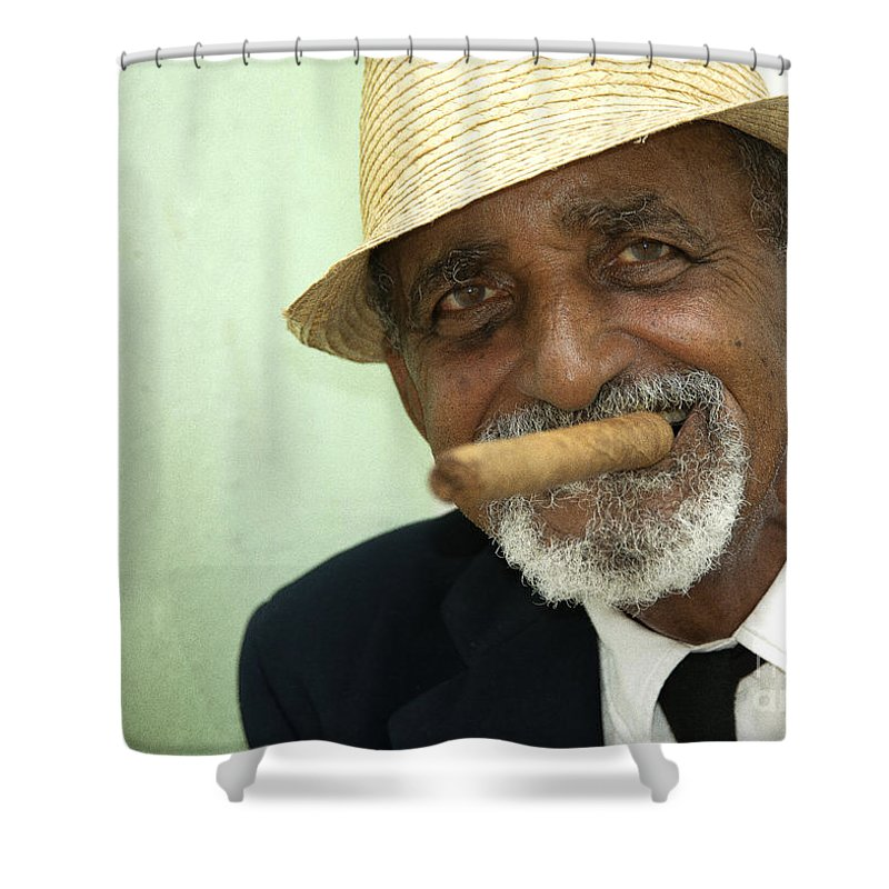 Cuba Shower Curtain featuring the photograph Mr Trinidad by Rob Hawkins