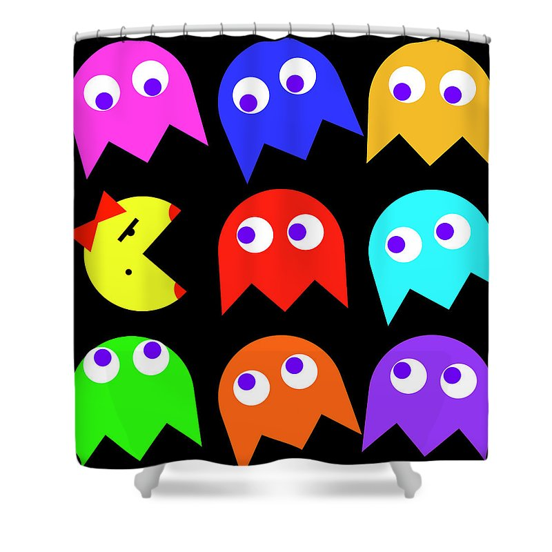 Ms Pacman Shower Curtain For Sale By Daniel Hagerman