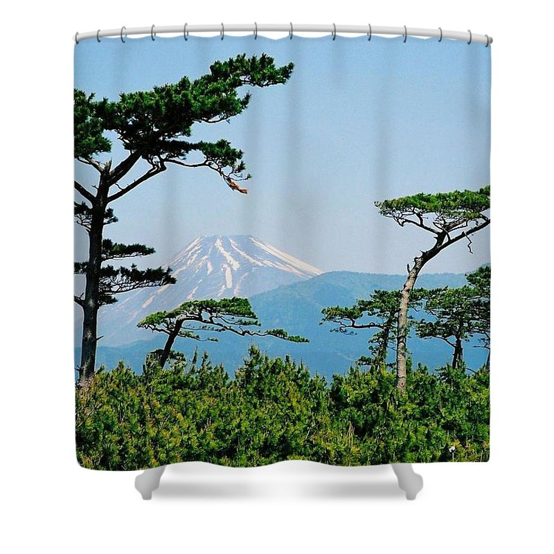 Asia Shower Curtain featuring the photograph Mt. Fuji ... by Juergen Weiss