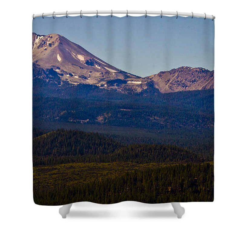 Mt Lassen Shower Curtain featuring the photograph Mt Lassen And Chaos Crags by Albert Seger
