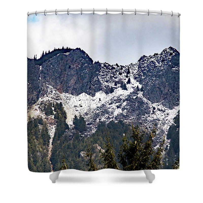 Pacific Northwest Shower Curtain featuring the photograph Mt. Si South View by Marland Howard