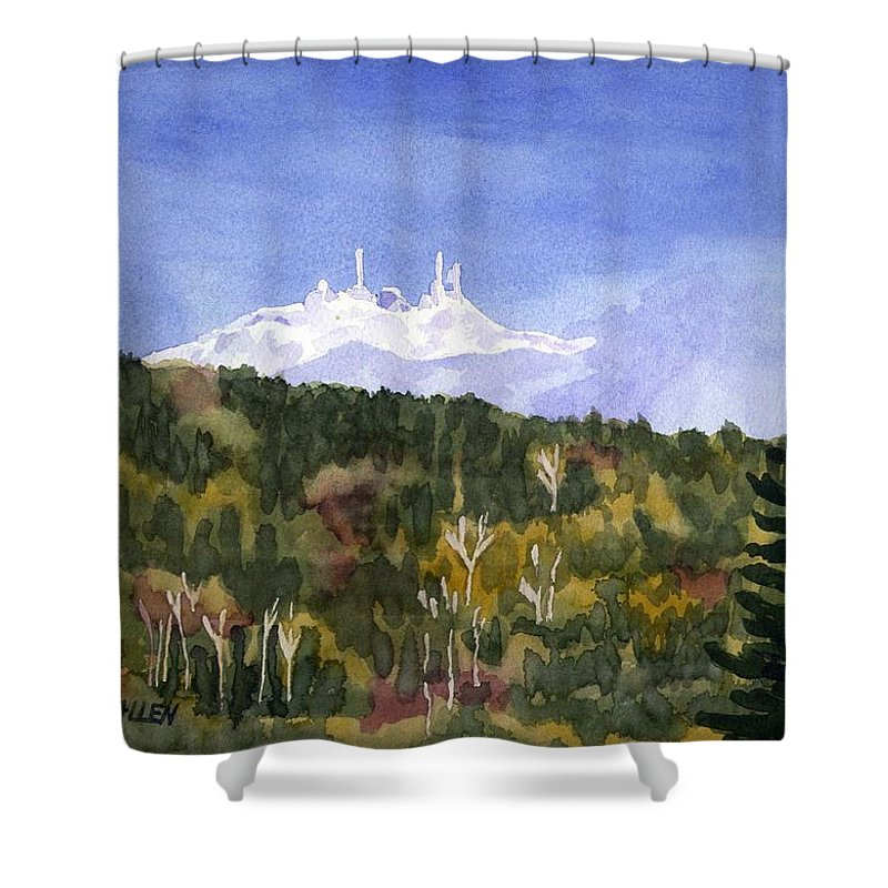 Landscape Shower Curtain featuring the painting Almost Mystical by Sharon E Allen