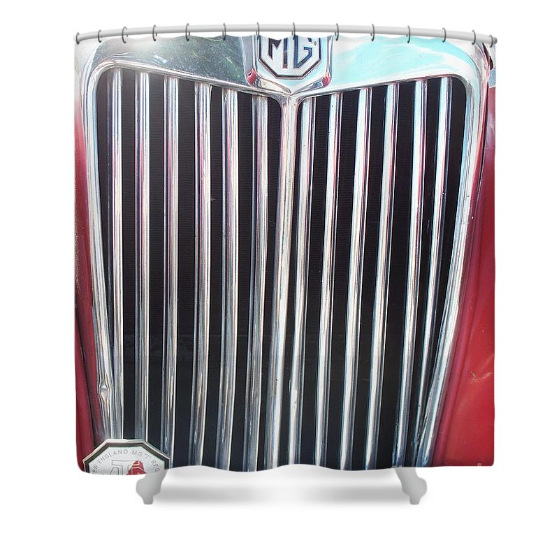 Mg Shower Curtain featuring the painting Mtg Chrome Grill by Eric Schiabor