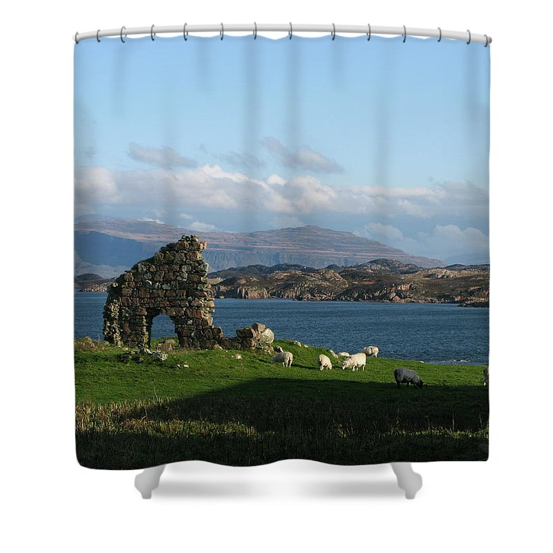 Scotland Shower Curtain featuring the photograph Mull And The Trossachs From Iona by Maria Joy