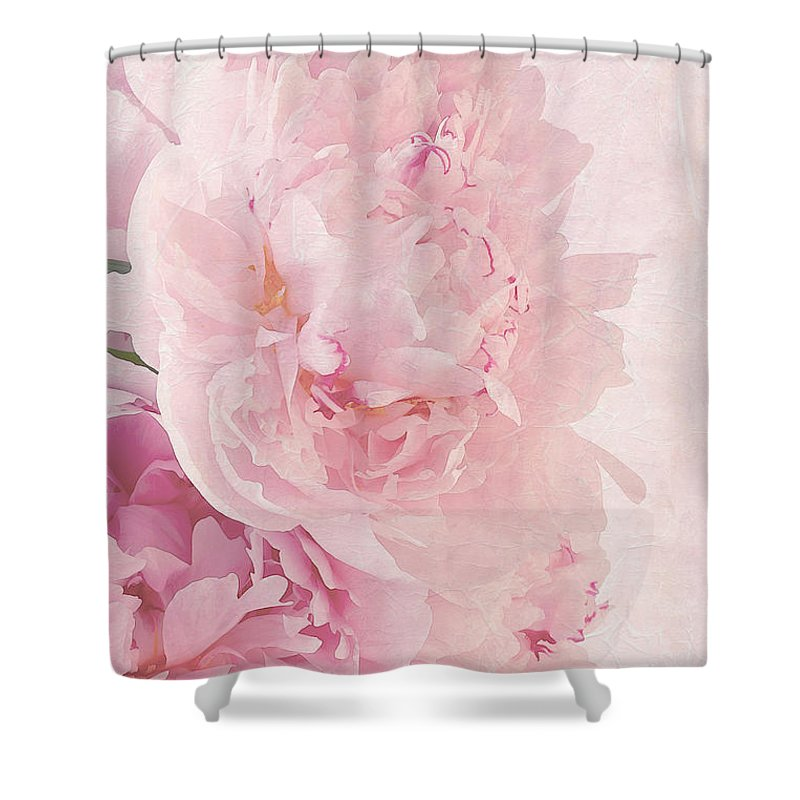 Artsy Pink Peonies Shower Curtain For Sale By Sandra Foster