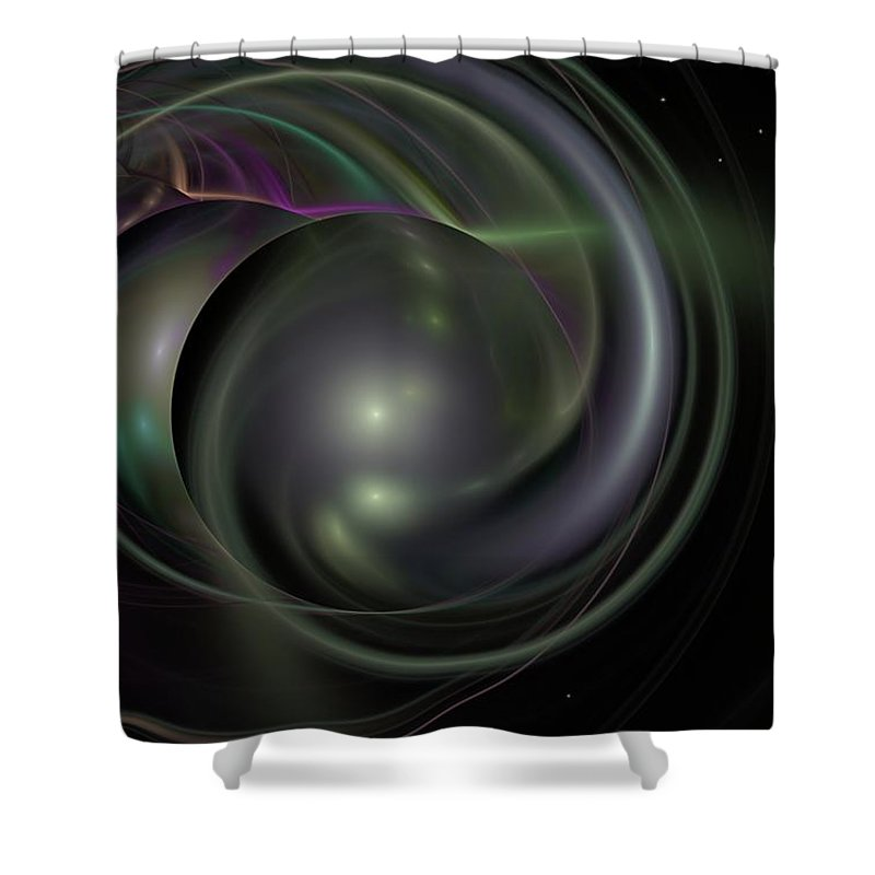 Fantasy Shower Curtain featuring the digital art Multiverse by David Lane