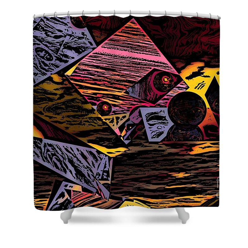 Shower Curtain featuring the digital art Multiverse II by David Lane