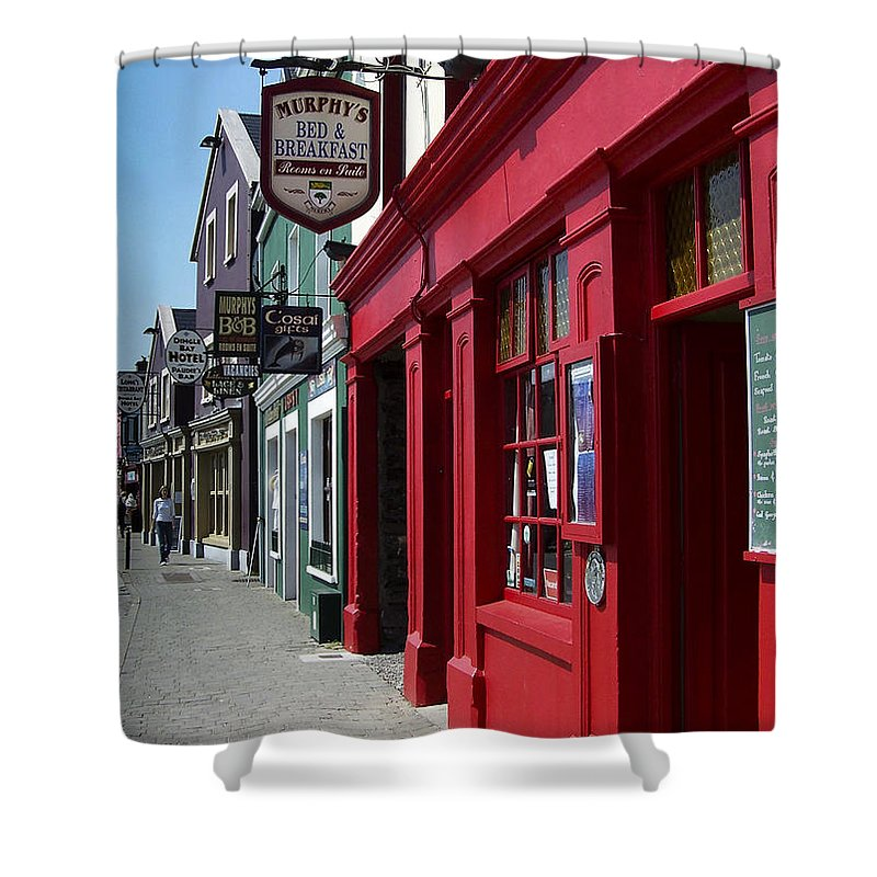 Irish Shower Curtain featuring the photograph Murphys Bed And Breakfast Dingle Ireland by Teresa Mucha