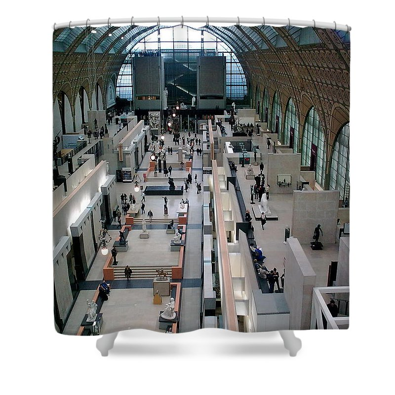 Museum Shower Curtain featuring the photograph Museum D'orsay Paris by Valerie Ornstein