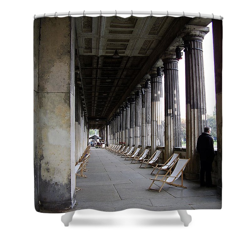 Museumsinsel Shower Curtain featuring the photograph Museumsinsel by Flavia Westerwelle