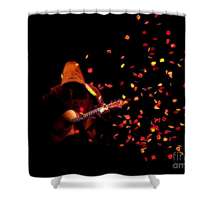 Clay Shower Curtain featuring the photograph Musical Appirition by Clayton Bruster