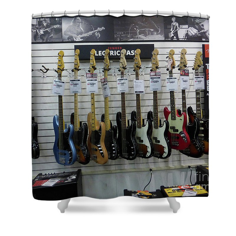 Fender Shower Curtain featuring the photograph Musicians' Dream 4 by To-Tam Gerwe