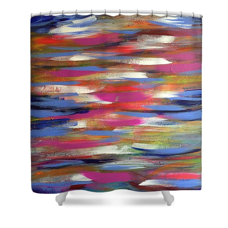 Musing Shower Curtain featuring the painting Musing by April Mickens