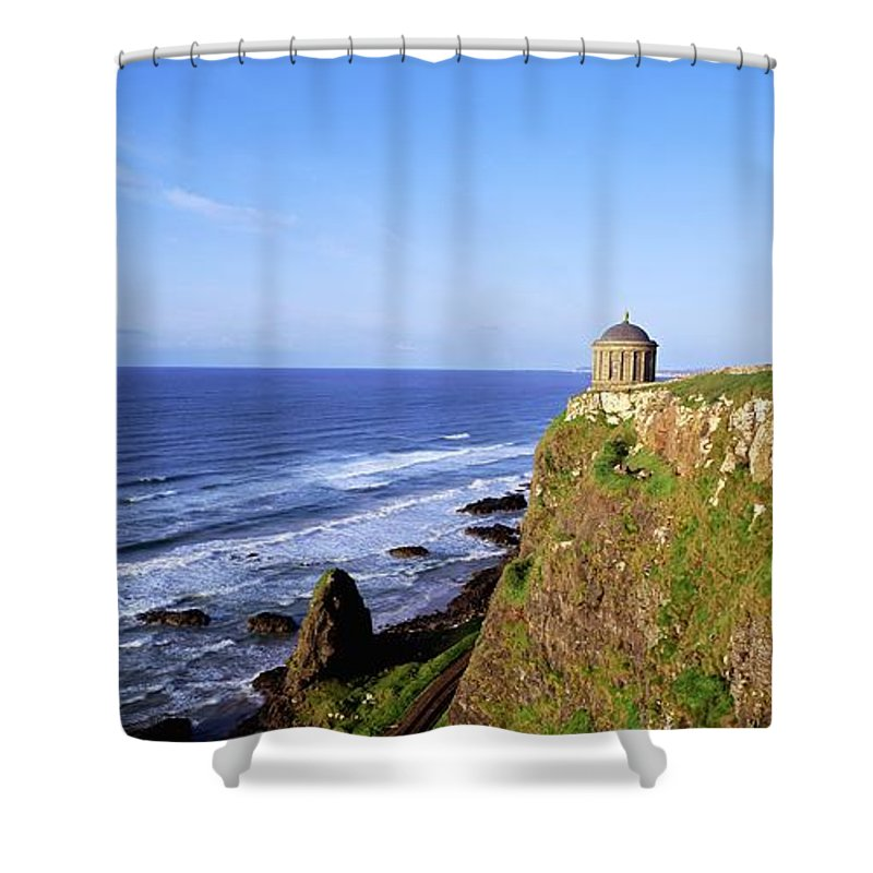 Architecture Shower Curtain featuring the photograph Mussenden Temple, Portstewart, Co by The Irish Image Collection