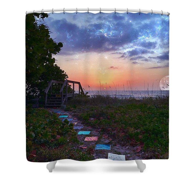 Sunrise Shower Curtain featuring the photograph My Atlantic Dream by Carlos Avila