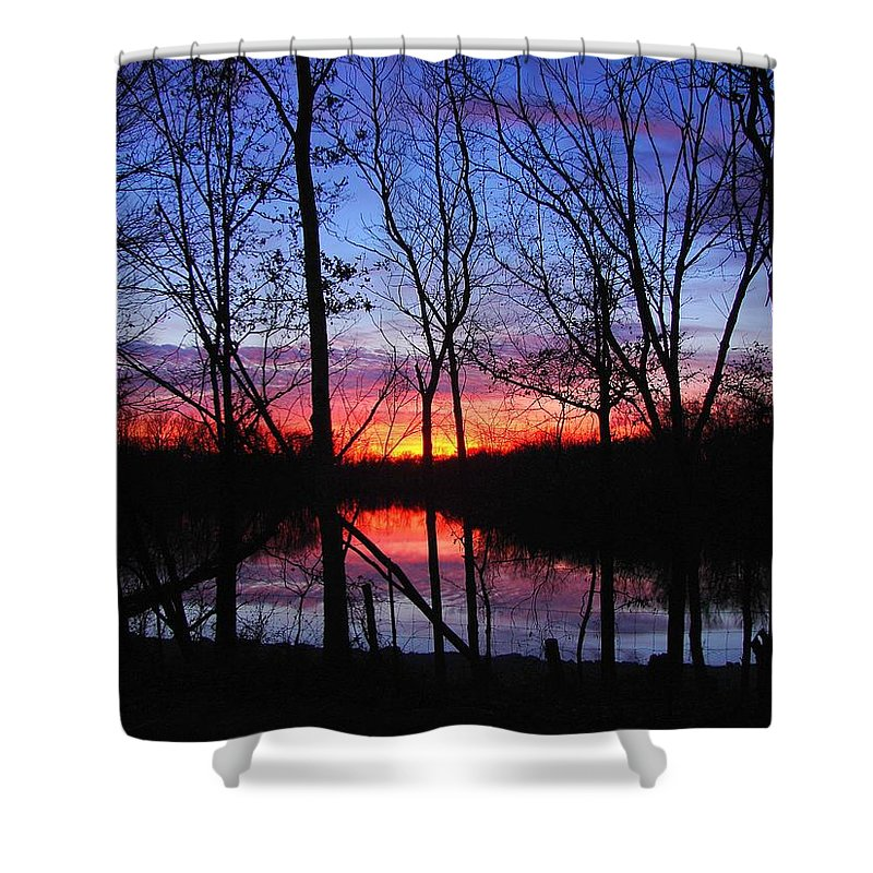 Lake Shower Curtain featuring the photograph My Backyard by J R Seymour