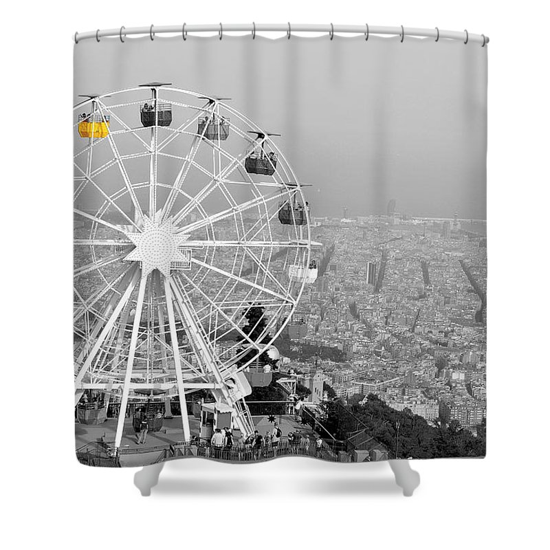 The Town Shower Curtain featuring the photograph My Barcelona.. by Dorota Stolarz