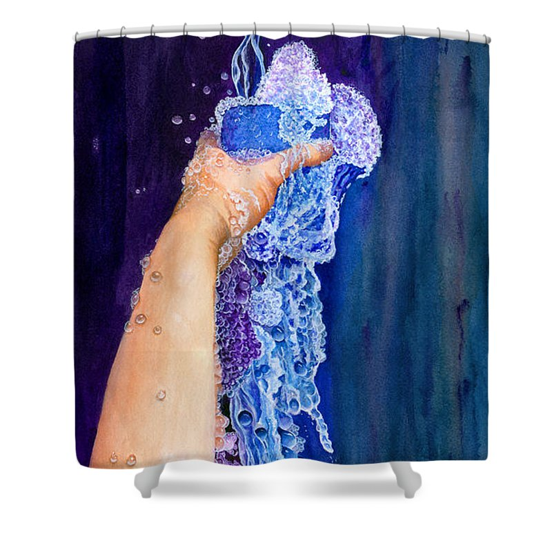 God Shower Curtain featuring the painting My Cup Runneth Over by Nancy Cupp