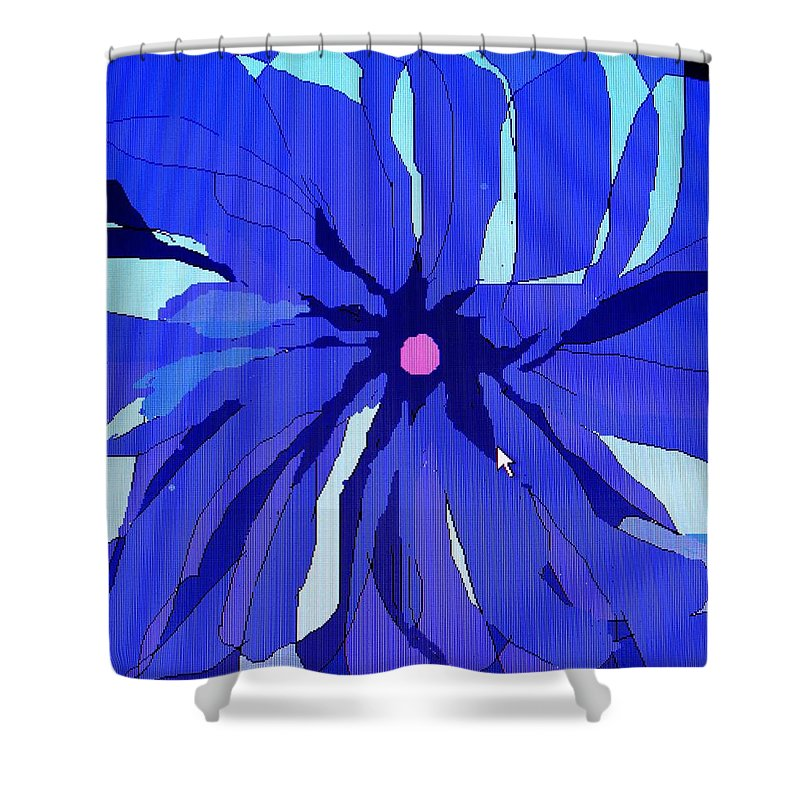 Flower Shower Curtain featuring the digital art My Fantastic Flower by Ian MacDonald