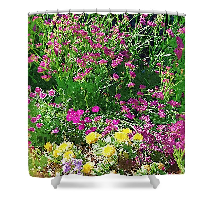 Gardens Shower Curtain featuring the photograph My Garden  by Donna Bentley