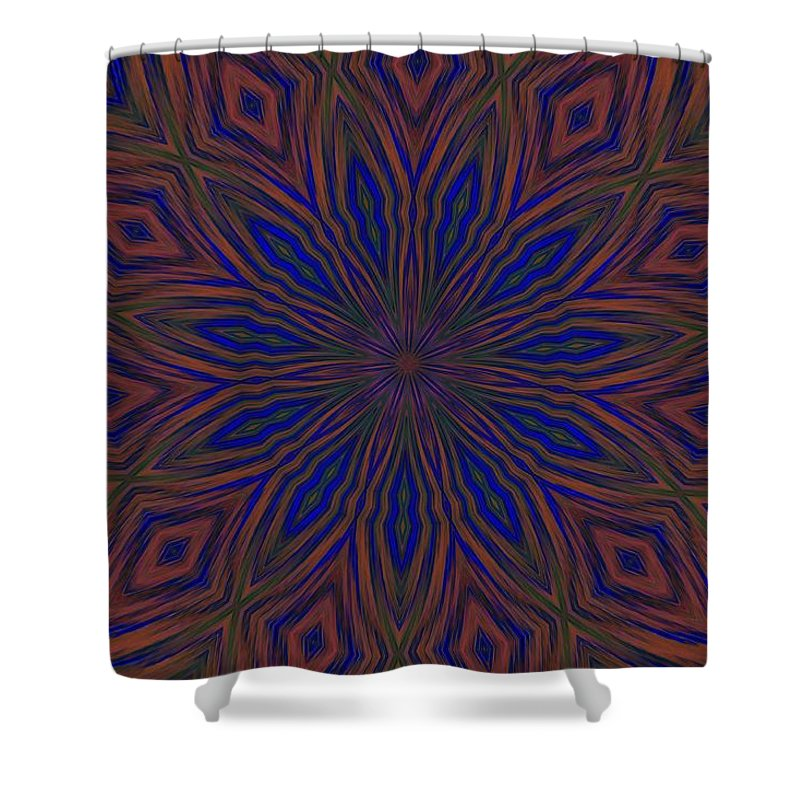 Psychedelic Shower Curtain featuring the photograph My Happy Place by G Berry
