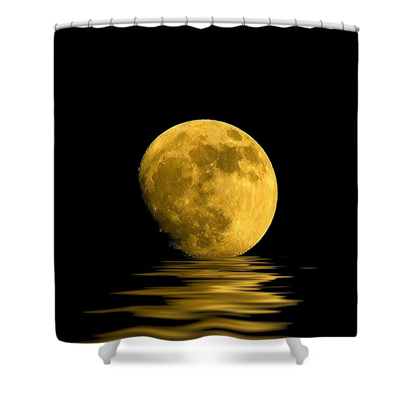 Moon Shower Curtain featuring the photograph My Harvest Moon by Lynn Andrews