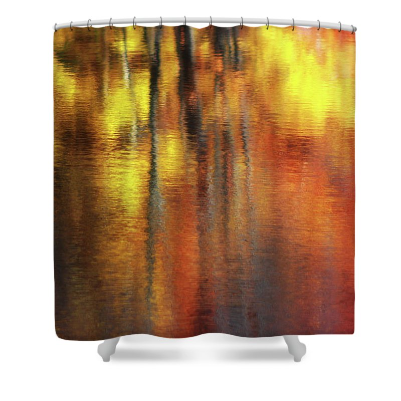 Abstract Shower Curtain featuring the photograph My Impression by Angela King-Jones