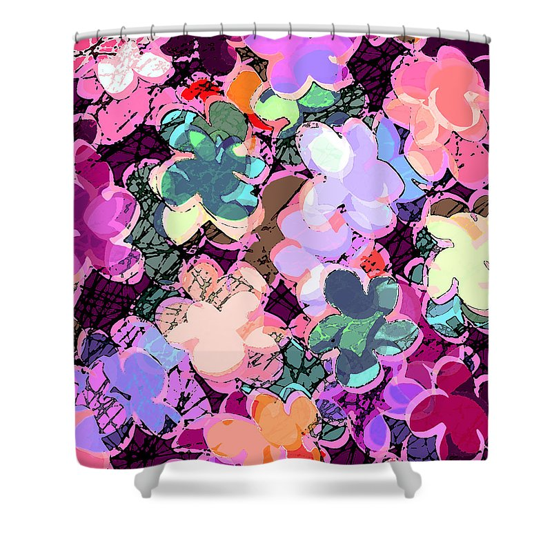 Abstract Shower Curtain featuring the digital art My Little World by William Russell Nowicki