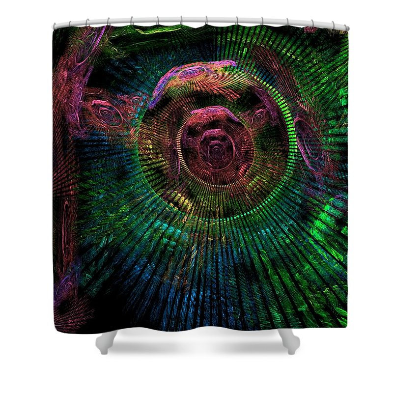 Fractal Shower Curtain featuring the digital art My Mind's Eye by Lyle Hatch
