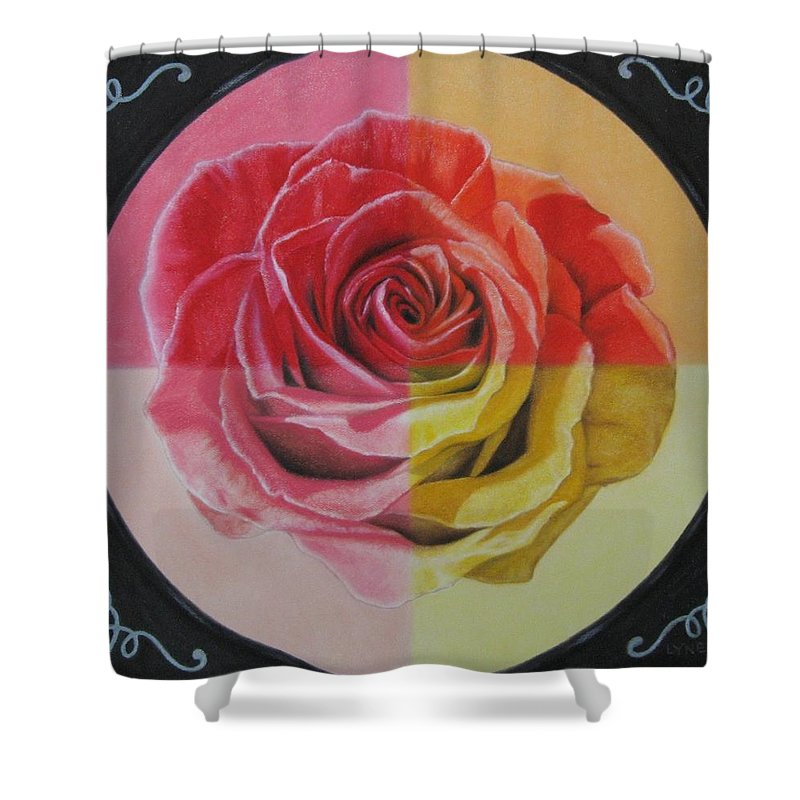 Rose Shower Curtain featuring the painting My Rose by Lynet McDonald