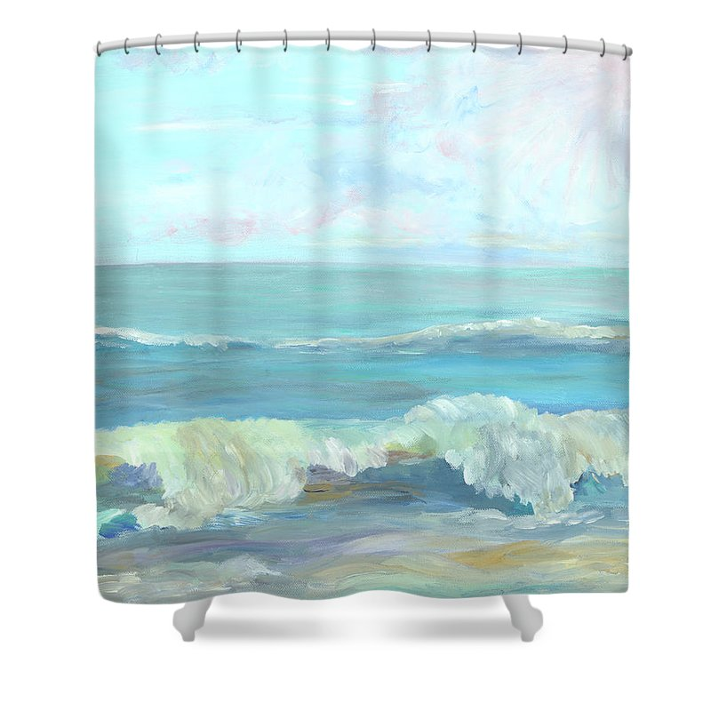 Ocean Shower Curtain featuring the painting My Serenity by Bev Veals