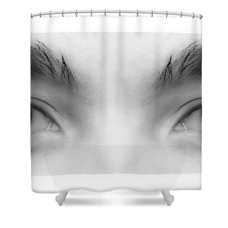 Eyes Shower Curtain featuring the photograph My Son's Eyes by James BO Insogna
