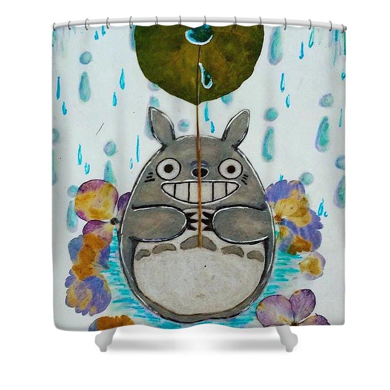 Totoro Shower Curtain Featuring The Drawing My Fanart By Elin Fan