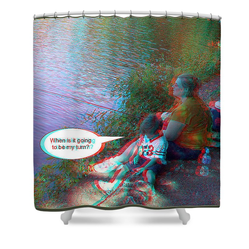 3d Shower Curtain featuring the photograph My Turn by Brian Wallace