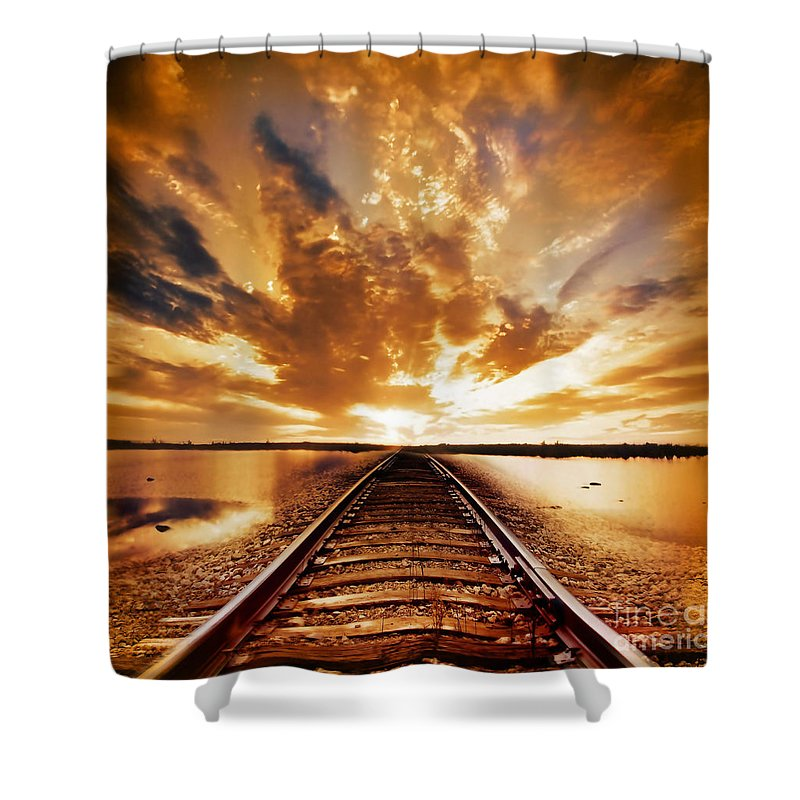 Water Shower Curtain featuring the photograph My Way by Jacky Gerritsen