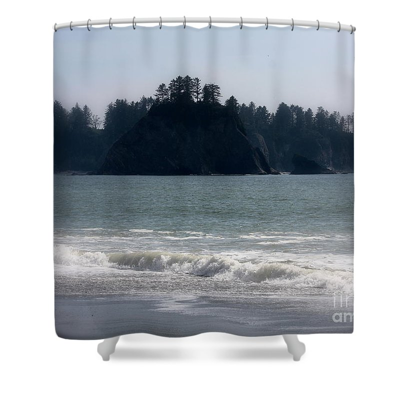 Mysterious Island Shower Curtain featuring the photograph Mysterious Island by Carol Groenen