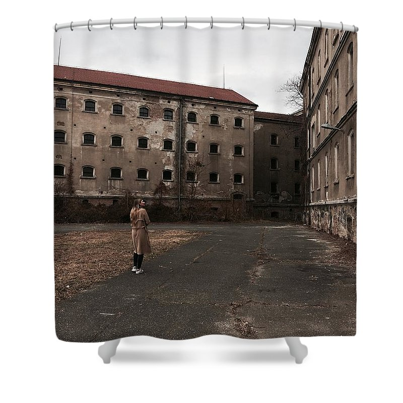 Girl Shower Curtain featuring the photograph Mystery House by Tonka Masic