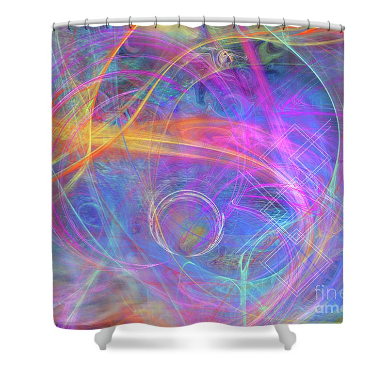 Mystic Beginning Shower Curtain featuring the digital art Mystic Beginning by John Beck