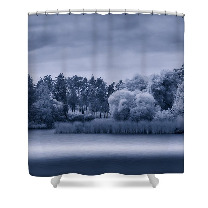 Black Shower Curtain featuring the photograph Mystic Parallel World by Serhii Simonov