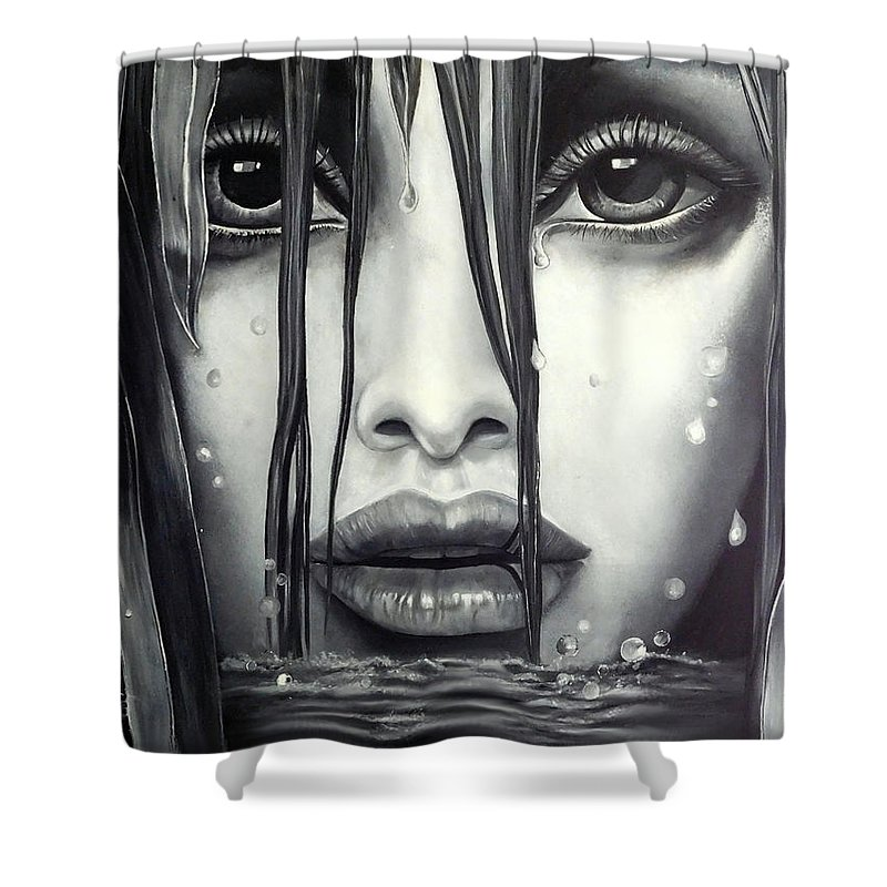Mystical Shower Curtain featuring the painting Mystic Pond by Michael Todd