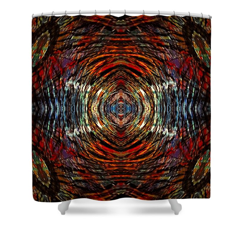 Shower Curtain featuring the digital art Mystic Tiger by Donna Graves