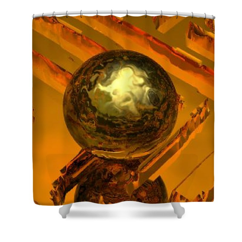 Mystical Shower Curtain featuring the digital art Mystic Vision by Oscar Basurto Carbonell