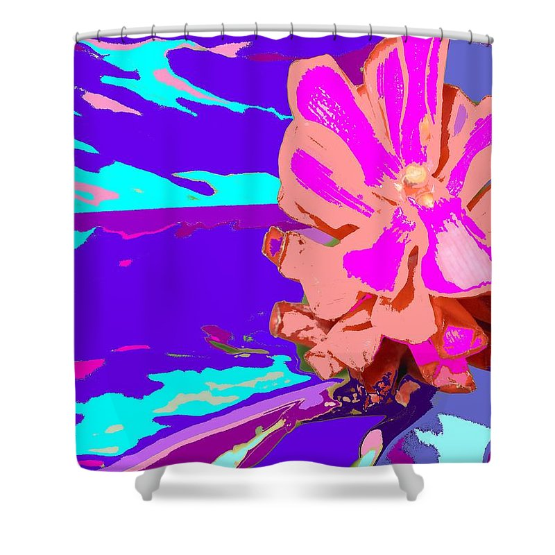 Flower Shower Curtain featuring the photograph Mystical Flower by Ian MacDonald