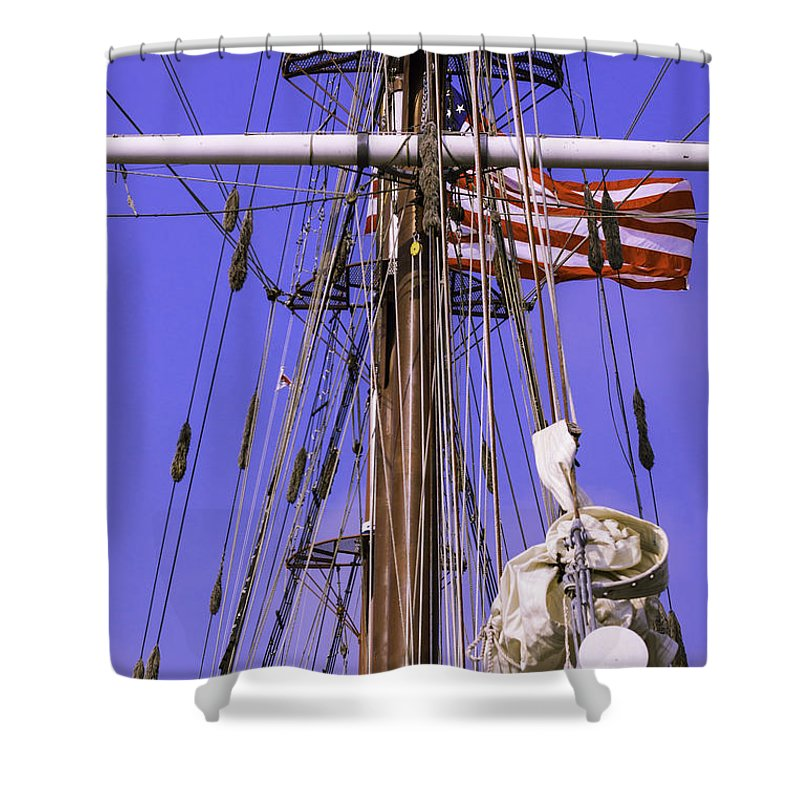 Atlantic Shower Curtain featuring the photograph Mystic's Masts by Joe Geraci