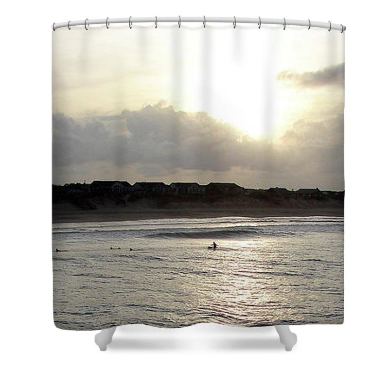 Nags Head Shower Curtain featuring the photograph Nags Head NC Surf by Brett Winn