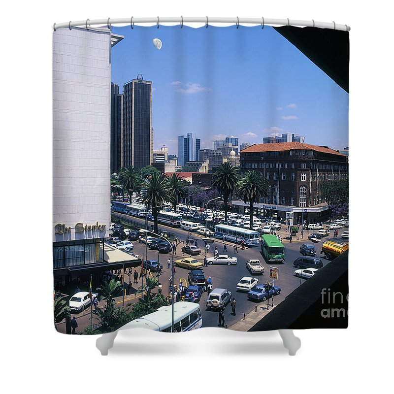 Cities Shower Curtain featuring the photograph Nairobi City by Morris Keyonzo