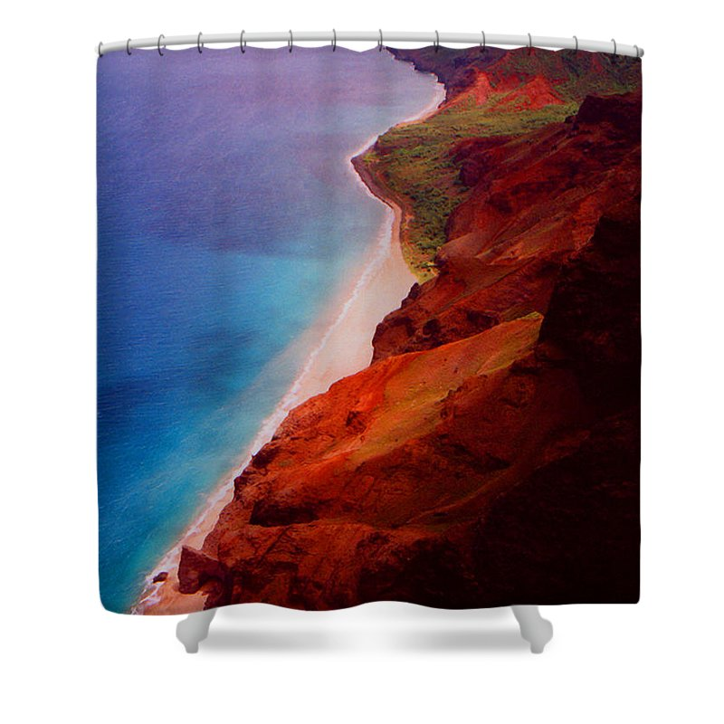 Shower Curtain featuring the photograph Napali Coast by Heather Kirk