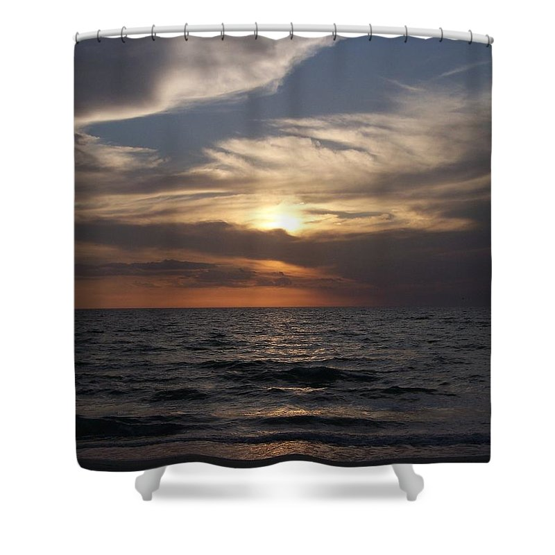 Naples Shower Curtain featuring the photograph Naples Sunset 0043 by Laurie Paci