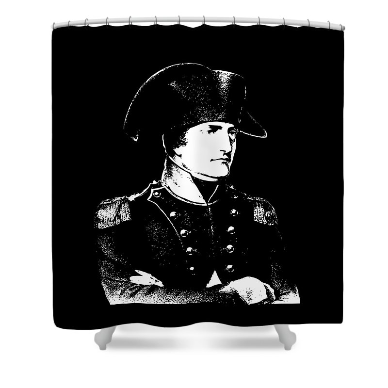 Napoleon Shower Curtain featuring the digital art Napoleon Bonaparte by War Is Hell Store